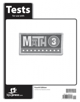 Math 3 Tests 4th Edition