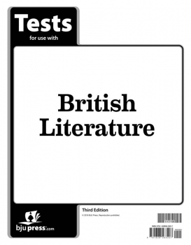 British Literature Tests 3rd Edition