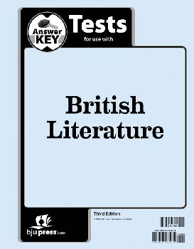 British Literature Tests Answer Key 3rd Edition