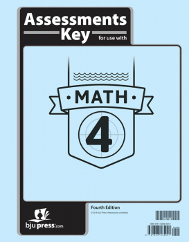 Math 4 Assessments Answer Key 4th Edition