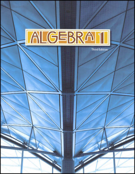 Algebra 1 Student Text 3rd Edition (copyright update)