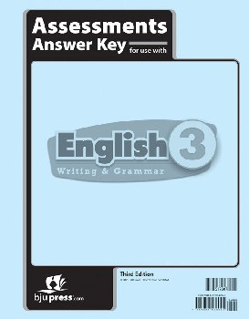 English 3 Assessments Answer Key 3rd Edition