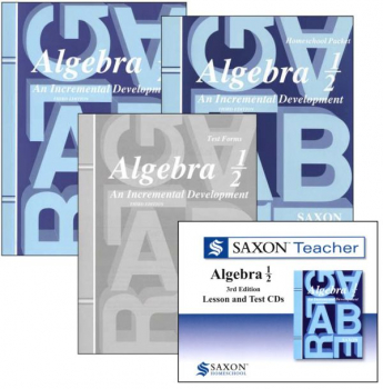 Saxon Algebra ½ Home Study Kit + Saxon Teacher CD-ROM