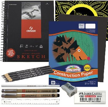 Artistic Pursuits Grades 4-5 Book 1 (3rd Edition) Art Supply Bundle