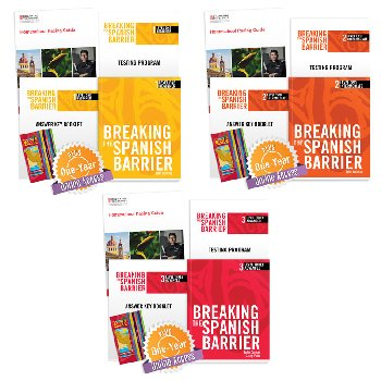 Breaking the Spanish Barrier Levels 1-3 Package