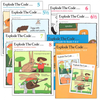 Explode the Code 5-8 (including 1/2s) with Teacher Guides (2nd Edition)