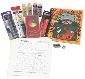 Feed My Sheep Bk w/paint packs & Art Material