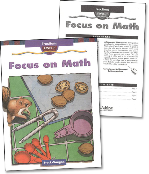 Focus on Math - F Fractions Workbook & Key