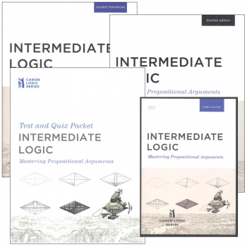 Intermediate Logic: Mastering Propositional Arguments Homeschool Package (with DVD Set)