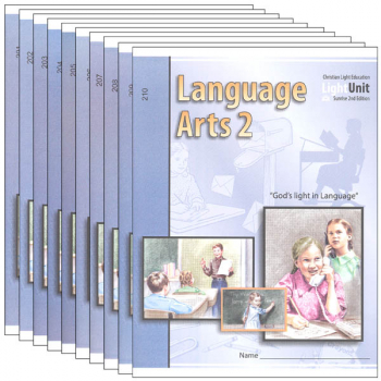 Language Arts LightUnit 201-210 Set Sunrise 2nd Edition