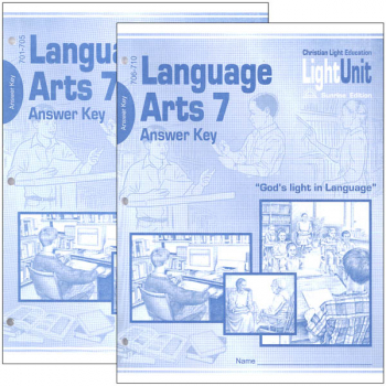 Language Arts LightUnit 701-710 Answer Key Set Sunrise Edition