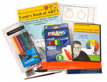 Lamb's Book of Art Book 1 with Art Supplies and DVD