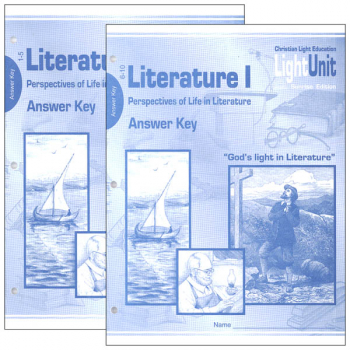 Literature I LightUnit Answer Key 1-10 Sunrise Edition