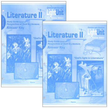Literature II LightUnit Answer Key 1-10 Set Sunrise Edition