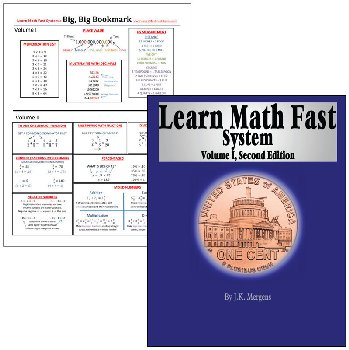 Learn Math Fast System Vol I + Bookmark