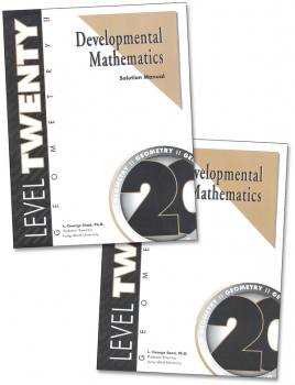 Developmental Math Level 20 Teacher & Student