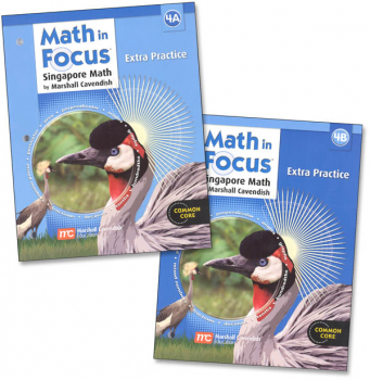Math in Focus Gr 4 Extra Practice A & B Set