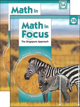 Math in Focus Grade 5 Student Book A & B Set