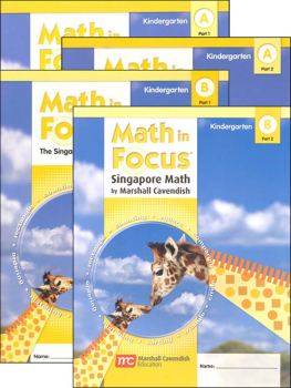Math in Focus Grade K Student - 4 Book Set