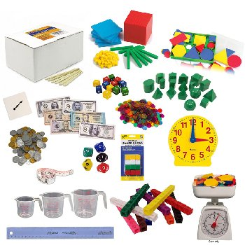Math in Focus Manipulative Kit Grade 2 with Teaching Clock Upgrade