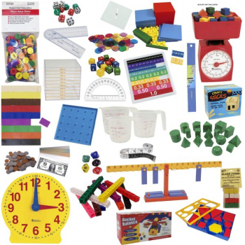 Math in Focus Complete Manipulative Kit with Teaching Clock Upgrade- Grades K-5