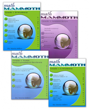 Math Mammoth Light Blue Series Grade 1 Colored Package
