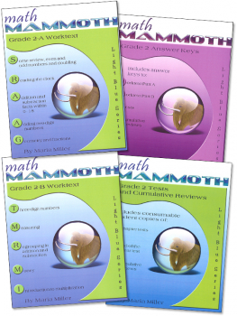 Math Mammoth Light Blue Series Grade 2 Set