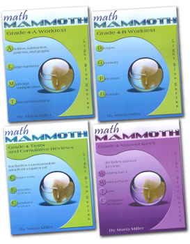 Math Mammoth Light Blue Series Grade 4 Set