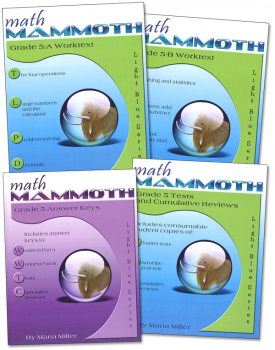 Math Mammoth Light Blue Series Grade 5 Set