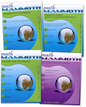 Math Mammoth Light Blue Series Grade 6 Set
