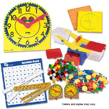 Manipulative Kit 1 (Plastic Pattern Block Upgrade, Judy Clock - Optional Items)