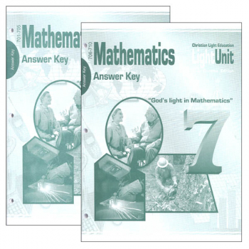 Mathematics LightUnit 701-710 Answer Key Set Sunrise Edition