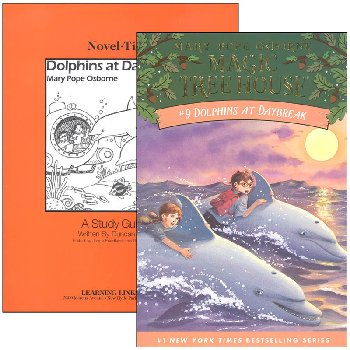 Dolphins at Daybreak (Magic Tree House) Novel-Ties Study Guide & Book Set