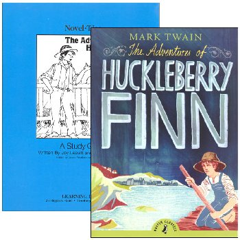 Adventures of Huckleberry Finn Novel-Ties Study Guide & Book Set