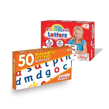 Rainbow Letters with 50 Magnetic Letters Activity Cards