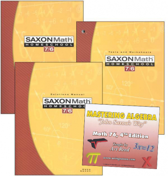 Saxon Math 7/6 and Mastering Algebra DVD Package