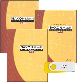 Saxon Math 7/6 & Mastering Algebra USB Package
