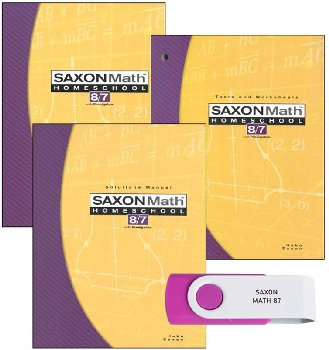 Saxon Math 8/7 and Mastering Algebra USB Package