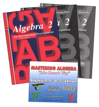 Saxon Algebra 2 and Mastering Algebra DVD Package
