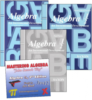 Saxon Algebra 1/2 and Mastering Algebra DVD Package