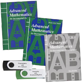 Saxon Advanced Math & Mastering Algebra USB Package