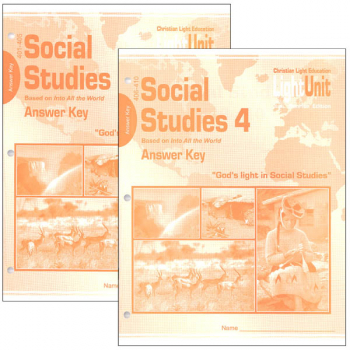 Social Studies 401-410 LightUnit Answer Key Set Sunrise Edition