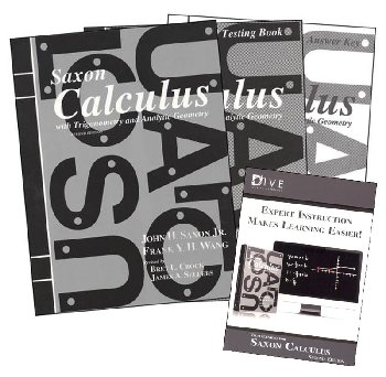 Calculus 2nd Edition Saxon Home Study Kit plus DIVE CD-ROM