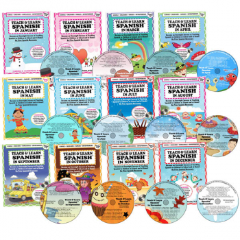 Teach & Learn Spanish Book & CD (all 12 months)