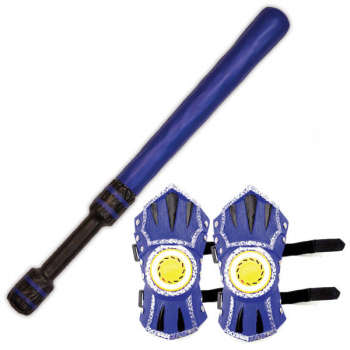 WhomBatz Ninja Tag Shoulder Armor/Bolt Pack - Blue