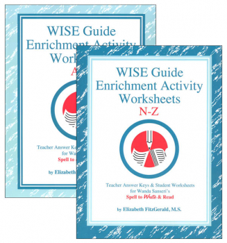 WISE Guide Enrichment Activity Worksheets A-Z Package